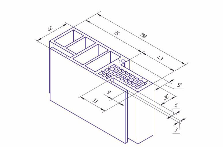 Телескопическая дверная коробка 100 мм KAPELLI