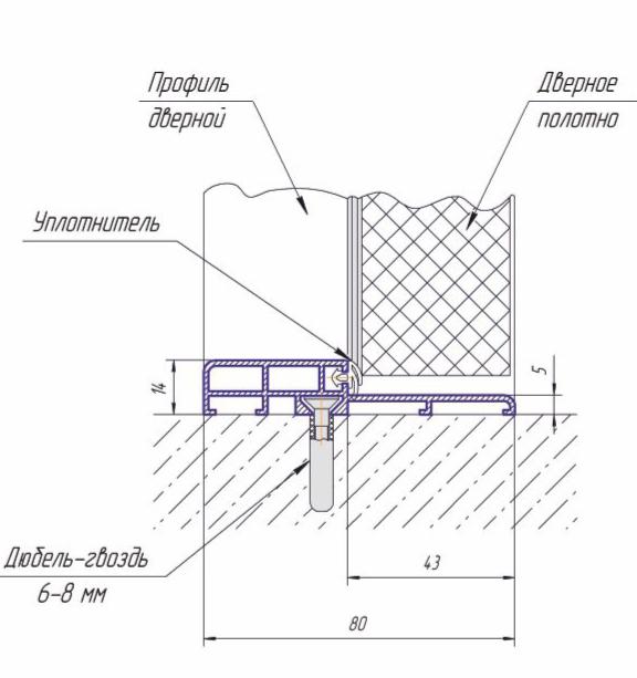 Алюминиевый дверной порог KAPELLI