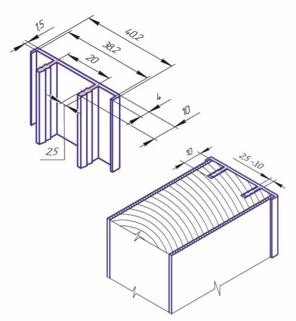 Алюминиевая торцевая накладка KAPELLI